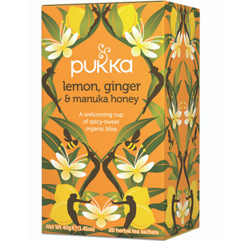 PUKKA Lemon, Ginger & Manuka Honey 20 teabags