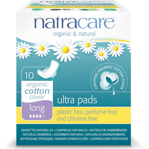 Natracare Long Ultra Pads w wings 10s