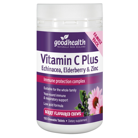 Good Health Vitamin C Plus Echinacea, Elderberry & Zinc Chews 150tabs