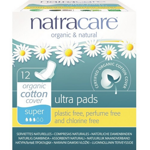 Natracare Super Ultra Pads w wings 12s