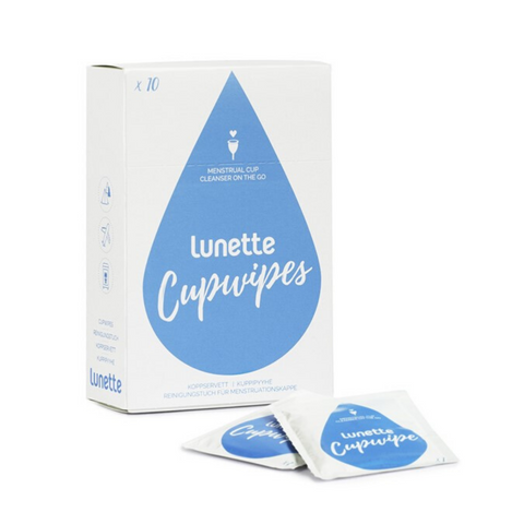Lunette Sanitising Cupwipe 10 Pack