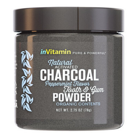 InVitamin Charcoal Tooth & Gum Powder Peppermint 78g