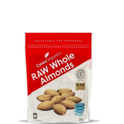 Ceres Raw Whole Almonds Organic 250g
