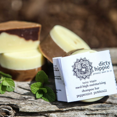 Dirty Hippie Peppermint & Patchouli Soap & Shampoo Bar - Full Size (Vegan)