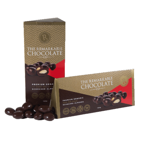 Remarkable Dark Chocolate Scorched Almonds 150g