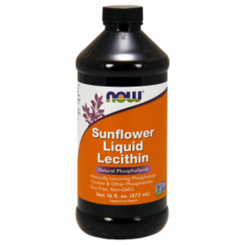 Now Sunflower Liquid Lecithin 473ml Non GMO