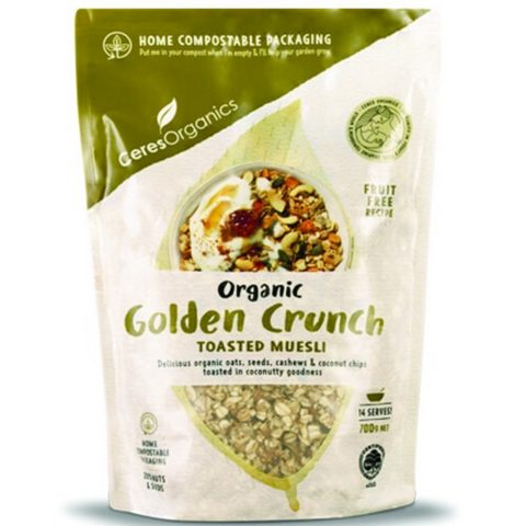 Ceres Golden Crunch Muesli Organic 700g