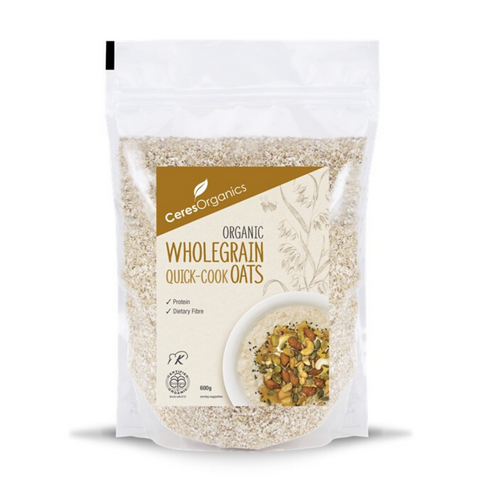 Ceres Quick Cook Oats Wholegrain Organic 600g