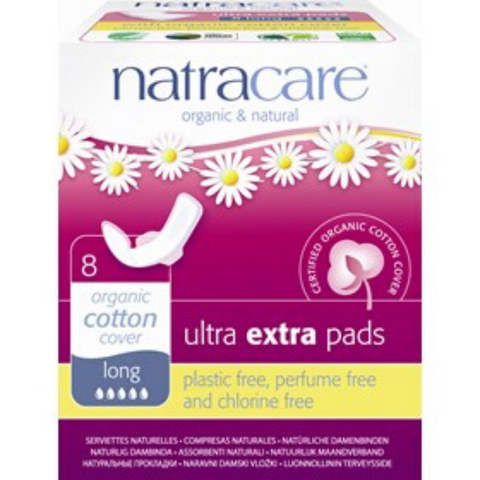 Natracare Ultra Extra Pads With Wings Long 8s