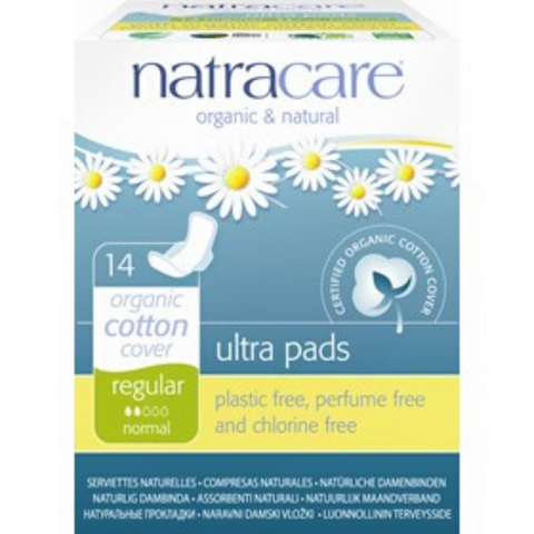 Natracare Ultra Pads With Wings Regular 14s