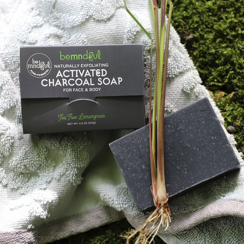 Bemndful Activated Charcoal Soap Tea TreeLemongrass