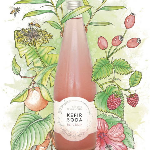 The Wild Fermentary Wild Kefir Berry Blush 750ml