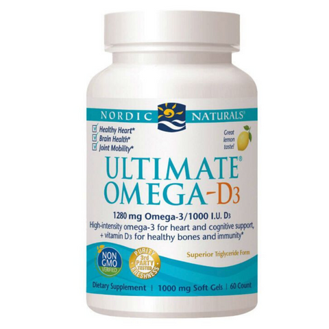 Nordic Ultimate Omega D3 Lemon 60gels