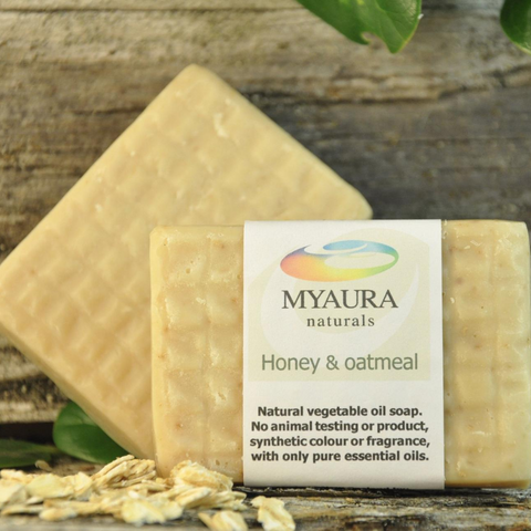 Myaura Honey & Oatmeal Soap
