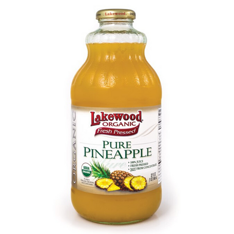 Lakewood Organic Pure Pineapple Juice 946ml