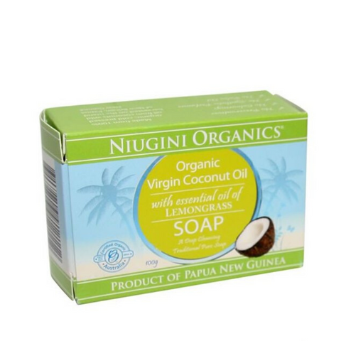 Niugini Org Virgin Coconut Oil Soap Lemongrass