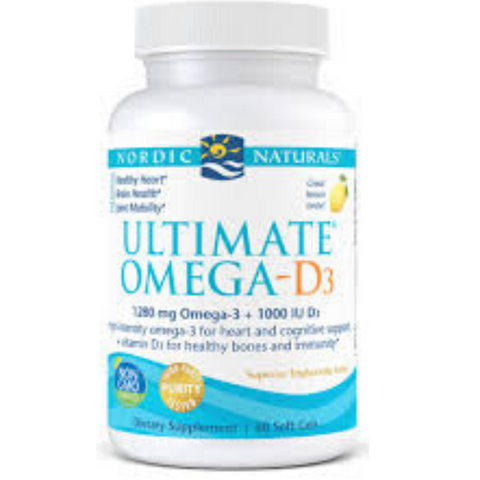 Nordic Ultimate Omega D3 Lemon 120gels