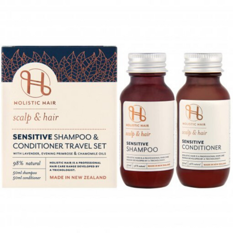 Holistic Hair Travel Pack Sensitive Shampoo/Conditioner