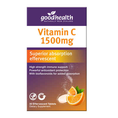 Good Health Vitamin C Effervescent 1500mg 30tabs