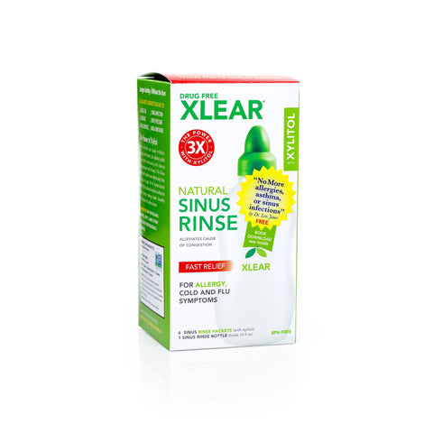 Xlear Sinus Care System Rinse Bottle + 6 Sachets