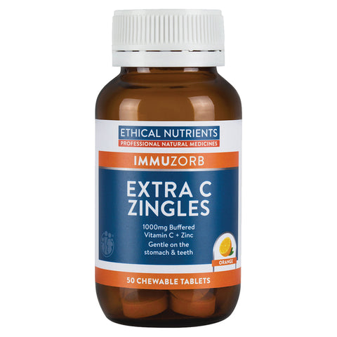 Ethical Nutrients Immuzorb Extra C Zingles Chewable Orange 50tabs