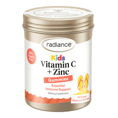 Radiance Kids Vitamin C + Zinc Gummies Orange 45