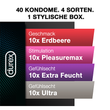 Durex Fun Explosion Black Box, 40 Kondome