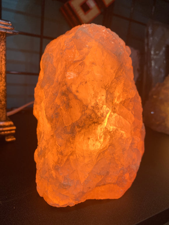 Rough Rose Quartz Lamp