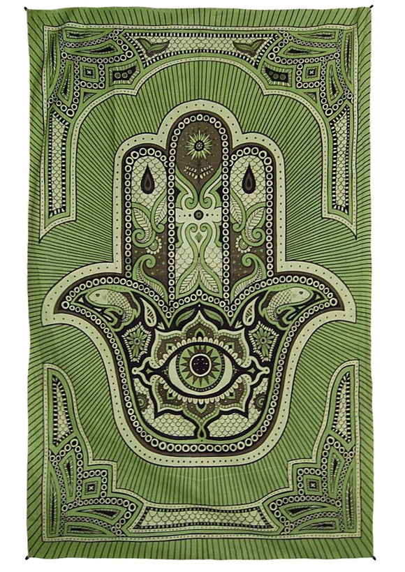 Zest For Life Hamsa Hand Tapestry 52x80