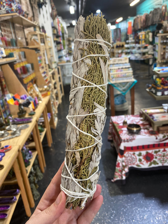 White Sage + Juniper Smudge Stick- Large