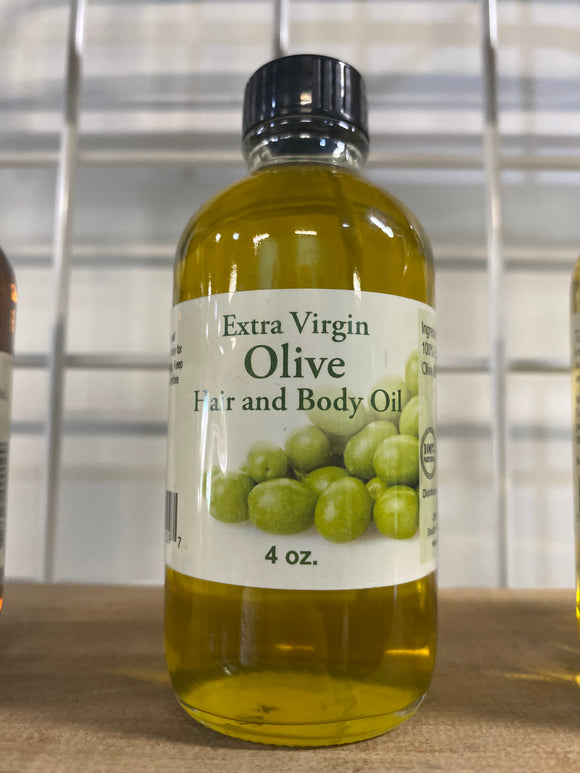 Extra Virgin Olive Hair and Body Oil 4oz