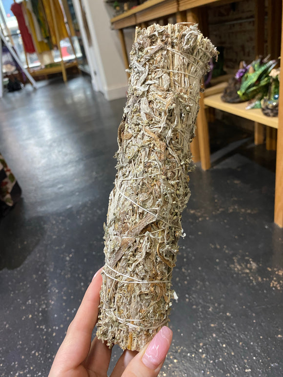 Black Sage (Mugwort) Large Smudge Stick
