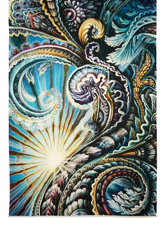 Solstice Heady Art Print Tapestry 53x85 - Artwork by Randal Roberts