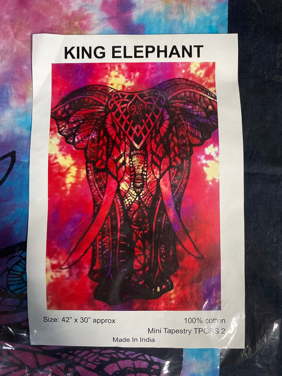 King Elephant Tapestry 42x30