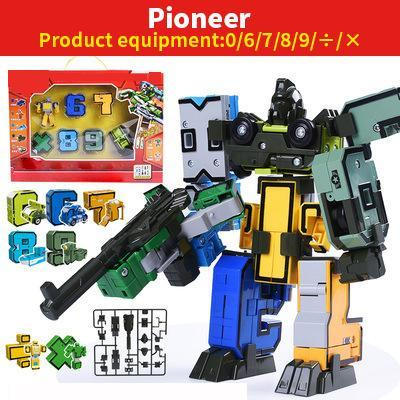 DIY early education puzzle, digital transformers toys