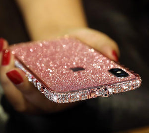 Bling Rhinestone iPhone Case With Grade A aluminum Frame