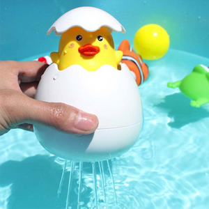 Bathroom Sprinkling Egg Floating Duck Penguin Spraying Water Toys