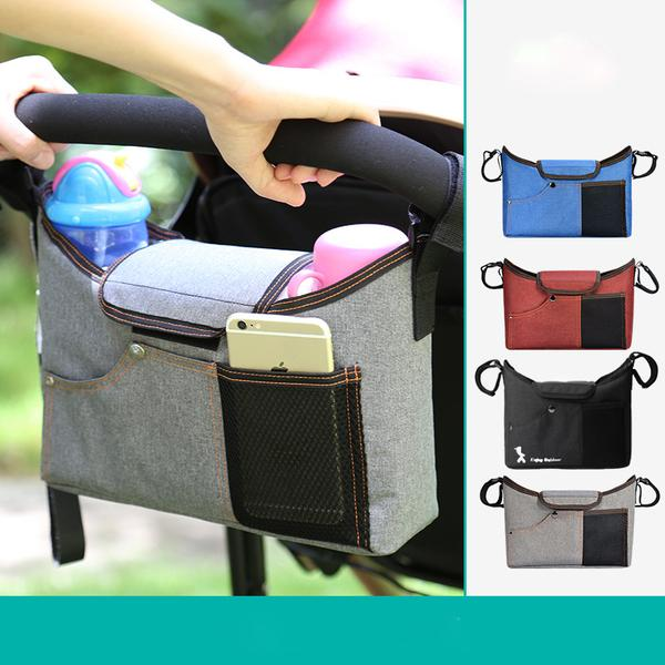 Baby Stroller Organizer with Cup Holders , Extra Storage, Easy Installation  for Smart Moms