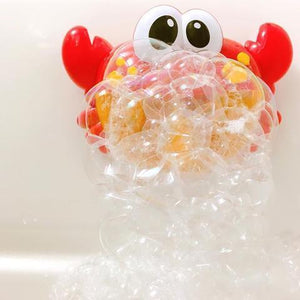 Crab Bubble Bath Time