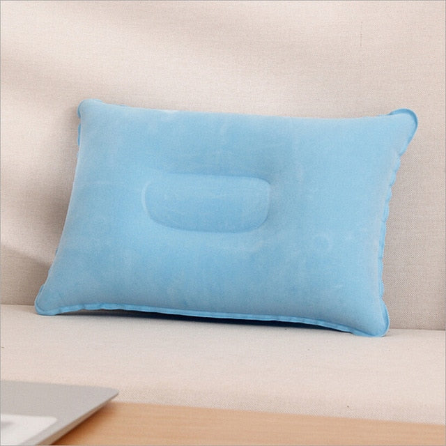 Outdoor Travel Air Pillow Beach Inflatable Cushion Car Head Rest Hiking Inflatable Pillow