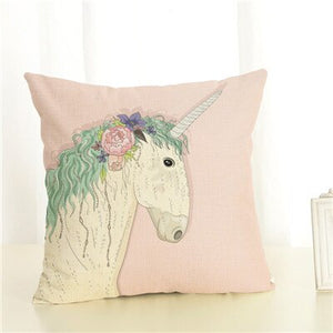 High Quality 45x45 Pillow Case Sofa Cushion Soft Pillow Cover Color Horse Cushion Cover Bedding Pillows Cotton Linen Square