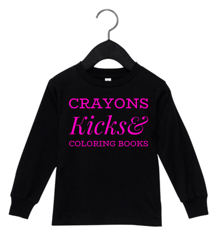 Crayons, Kicks & Coloring Books (Black)