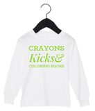 Crayons, Kicks & Coloring Books (White)