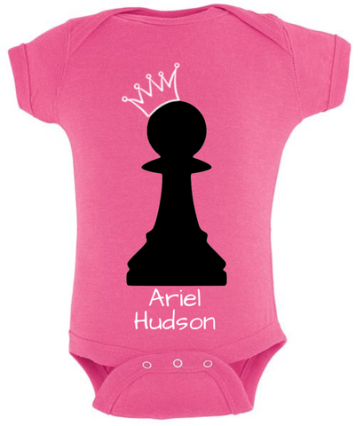 Custom-made onesie - chess piece