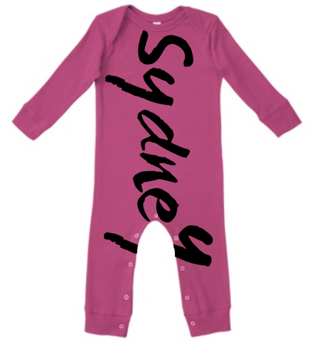 Personalized onesie - bold graffiti