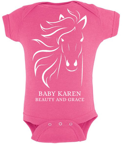 Custom onesie beauty and grace