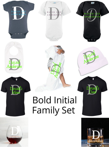 Bold Initial Family Set