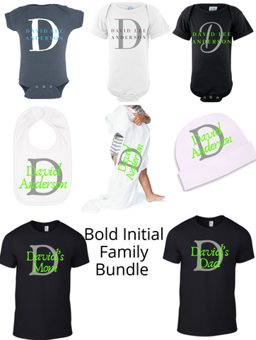 Bold Initial Family Bundle
