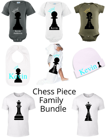 Chess Piece Family Bundle