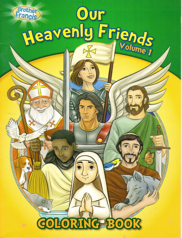 Brother Francis - Our Heavenly Friends Volume 1 - Colouring Book